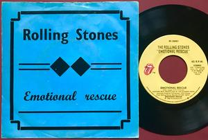 ROLLING STONES - Emotional rescue US/Belgien AS 45 1980