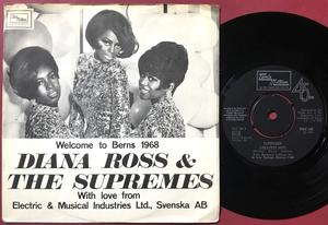DIANA ROSS & SUPREMES - Welcome to Berns Swe PS 1968