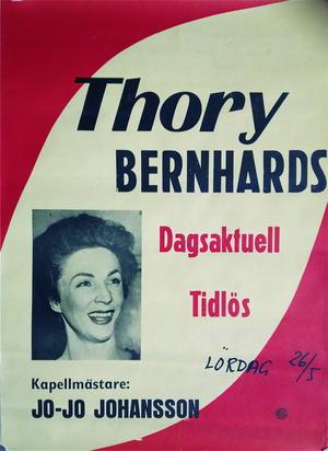 THORY BERNHARDS (ca 1960) - Turneaffisch