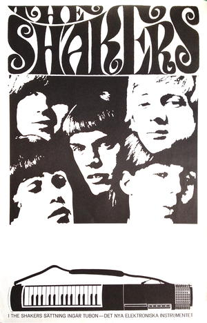 SHAKERS (1965-66) - Tour poster