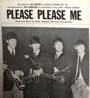 BEATLES - Please please me, US originalnoter 1964