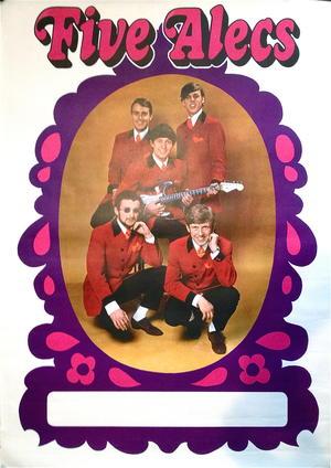 FIVE ALECS (1967-68) - Turneaffisch