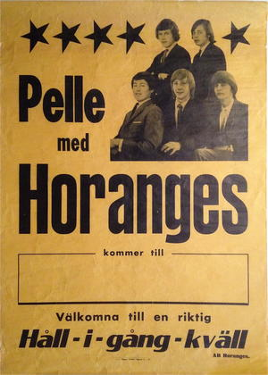 PELLE med HORANGES (1965) - Turneaffisch
