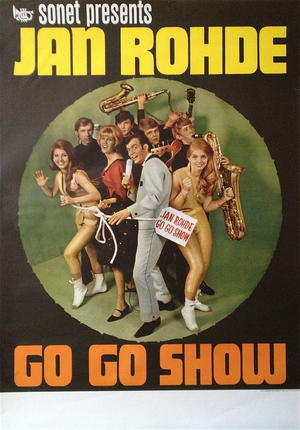 JAN ROHDE - GO GO SHOW (1964-65) - Tour poster