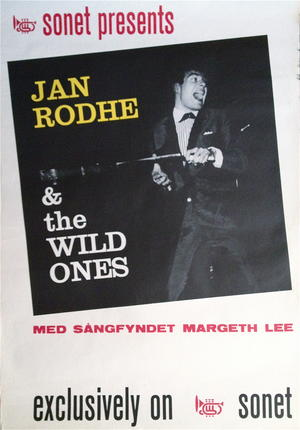 JAN ROHDE & The WILD ONES (1963) - Turneaffisch