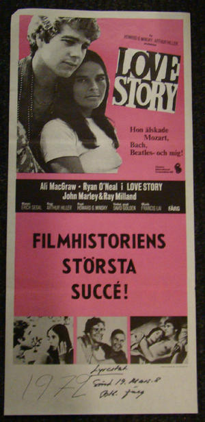 LOVE STORY (ALI MACGRAW, RYAN O NEAL)