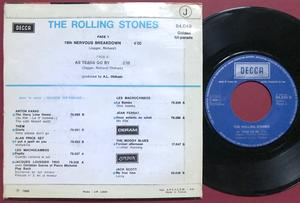 ROLLING STONES - 19th nervous breakdown France PS 1970´s