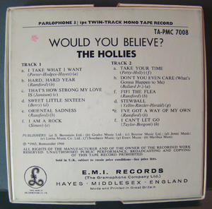 HOLLIES Would you believe? - RULLBAND 60-tal