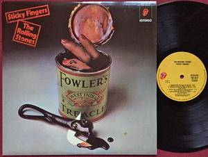ROLLING STONES - Sticky fingers Spanish orig LP 1971  UNIQUE COVER