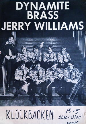 JERRY WILLIAMS & DYNAMITE BRASS (1969-70) - Turneaffisch