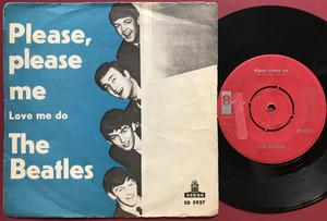 BEATLES - Please, please me Rare RÖD etikett Swe PS 1963