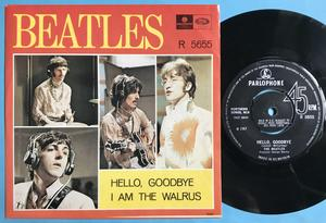 "BEATLES - Hello goodbye 7"" Swe/UK 1967 PS M-!"