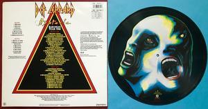 DEF LEPPARD - Hysteria SIGNERAD UK-orig Bildskiva LP 1988