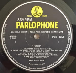 DAVE DAVANI FOUR - Fused UK-orig Jazz LP 1965