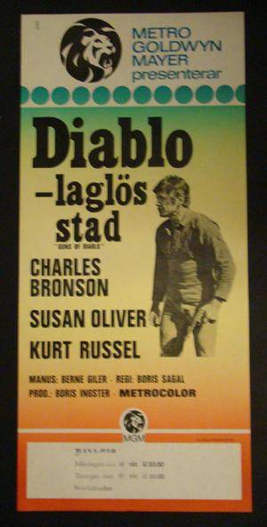 GUNS OF DIABLO (CHARLES BRONSON, SUSAN OLIVER, KURT RUSSEL)