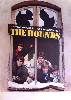 HOUNDS (1967) - Turneaffisch
