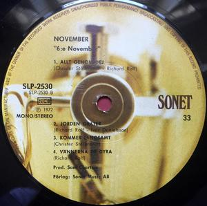NOVEMBER - 6:e Swe-orig LP 1972