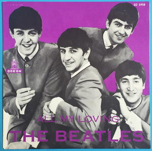 """BEATLES - All my loving Rare PURPLE 7"""" Swe-63 PS ONLY - Archive copy / MINT-!"""