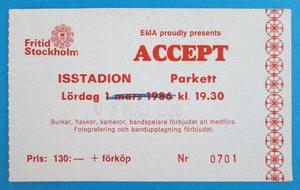 ACCEPT - Stockholm 1986