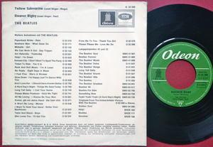 "BEATLES - Yellow Submarine 7"" Ger PS 1966"