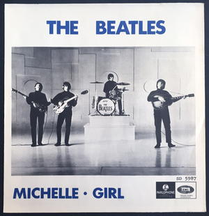 "BEATLES - Michelle TOPLIST 7"" Swe -66 PS ONLY - Archive copy / MINT-!"