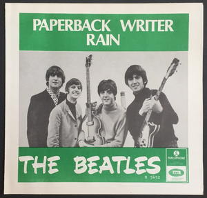 """BEATLES - Paperback writer BLUE BACK 7"""" Swe -66 PS ONLY - Archive copy / MINT-!"""