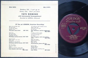 FATS DOMINO - Blueberry hill +3 EP UK-EXPORT/ Swe PS 1957