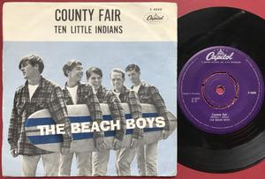 BEACH BOYS - Ten little indians Swe PS 1962