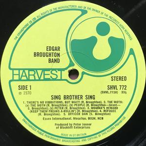 EDGAR BROUGHTON BAND - Sing brother sing UK-orig LP 1970