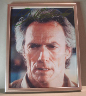 CLINT EASTWOOD Signed photo in frame