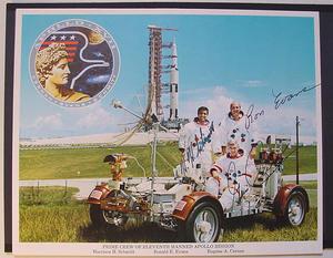 Apollo 17 crew - Autographs