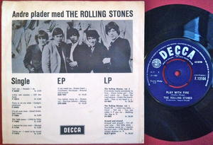 ROLLING STONES - The last time Dansk PS 1965