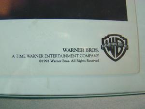 WESLEY SNIPES DEMOLITION MAN AUTOGRAPH - WARNER BROS 1993