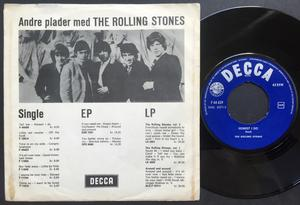 ROLLING STONES - Tell me time Danish PS 1964
