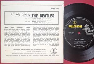 BEATLES - All my loving +3 Australia EP 1964