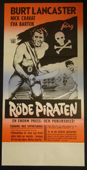 RÖDE PIRATEN (BURT LANCASTER, NICK CRAVAT, EVA BARTOK)