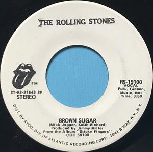 ROLLING STONES - Brown sugar US PROMO 45 1971