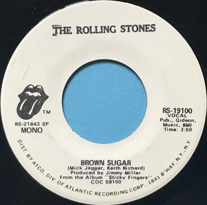ROLLING STONES - Brown sugar US PROMO 45 1971