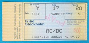 AC/DC - Stockholm 1988