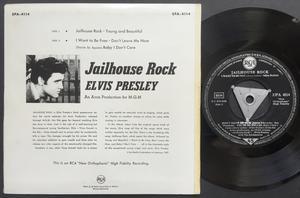 ELVIS PRESLEY - Jailhouse rock + 4 German EP Silver tri 1957