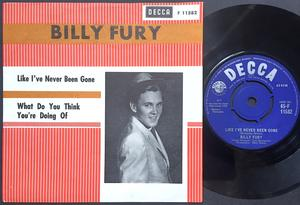 BILLY FURY - Like I´ve never been gone Swe PS 1963