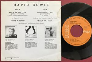 DAVID BOWIE - Wild is the wind Spanish PS 1981