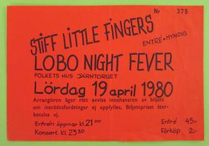 STIFF LITTLE FINGERS - Göteborg 1980