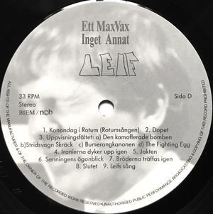 GALENSKAPARNA - Leif - Det kompletta originalljudspåret från kanonfilmen Swe-orig LP 1987