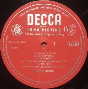 ERROL DIXON - Blues in the pot UK-orig MONO LP 1968