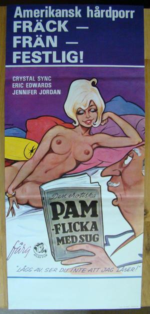 Den erotiska PAM Flicka med sug Amerikansk hårdporr (1976)