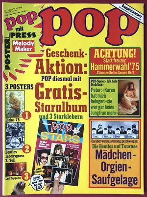 POP - Nr 21 1975 med BEATLES-AFFISCH!