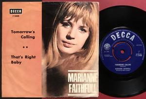 MARIANNE FAITHFULL - Tomorrow´s calling Swe PS 1966