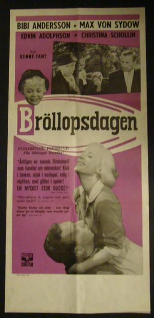 BRÖLLOPSDAGEN (BIBI ANDERSSON, MAX VON SYDOW, CHRISTINA SCHOLLIN)