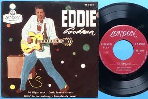 EDDIE COCHRAN - 20 flight rock +3 Swe EP 1957